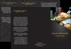 exemple depliant 3 volets  6 pages  pizzeria et restaurant italien pizza pizzeria restaurant italien MLGI34011