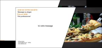 personnaliser maquette carte de correspondance pizzeria et restaurant italien pizza pizzeria restaurant italien MLGI34015