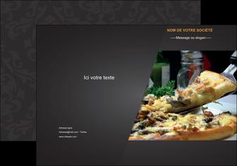 creation graphique en ligne pochette a rabat pizzeria et restaurant italien pizza pizzeria restaurant italien MLGI34025
