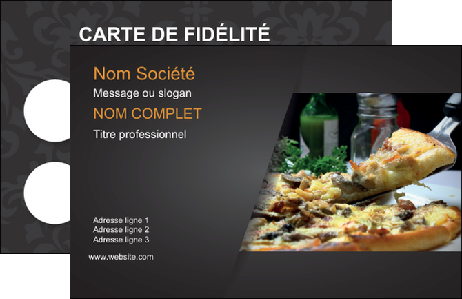 imprimerie carte de visite pizzeria et restaurant italien pizza pizzeria restaurant italien MLGI34027