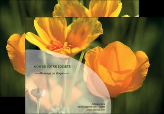 personnaliser modele de affiche agriculture fleurs bouquetier horticulteur MLIP34117
