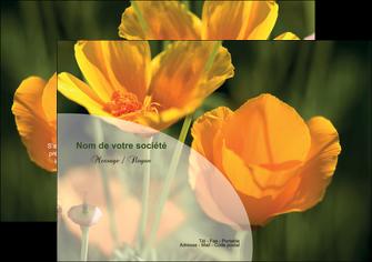 modele flyers agriculture fleurs bouquetier horticulteur MLIP34119