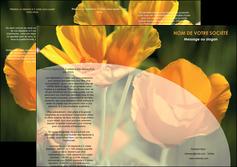 exemple depliant 3 volets  6 pages  agriculture fleurs bouquetier horticulteur MLIP34121
