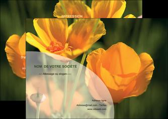 modele en ligne flyers agriculture fleurs bouquetier horticulteur MLIP34123