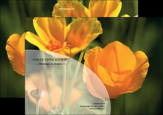 maquette en ligne a personnaliser flyers agriculture fleurs bouquetier horticulteur MLIP34129