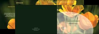 faire depliant 2 volets  4 pages  agriculture fleurs bouquetier horticulteur MLIP34131