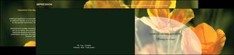 personnaliser modele de depliant 2 volets  4 pages  agriculture fleurs bouquetier horticulteur MLIP34133