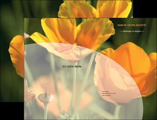 faire modele a imprimer pochette a rabat agriculture fleurs bouquetier horticulteur MLIP34137