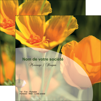 modele flyers agriculture fleurs bouquetier horticulteur MLIP34145
