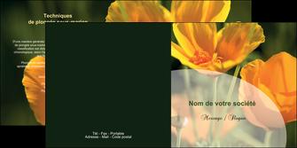 faire modele a imprimer depliant 2 volets  4 pages  agriculture fleurs bouquetier horticulteur MLIP34147