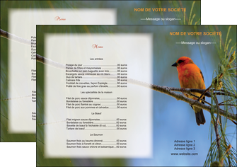 realiser set de table metiers de la cuisine menu restaurant liste de menu set de table MLGI34257