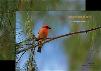 exemple affiche paysage nature parc naturel animaux parc naturel des oiseaux MLGI34261