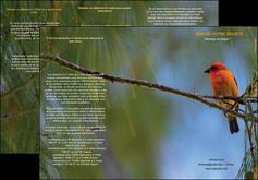 imprimerie depliant 3 volets  6 pages  paysage nature parc naturel animaux parc naturel des oiseaux MLGI34263