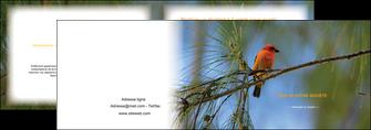 creation graphique en ligne depliant 2 volets  4 pages  paysage nature parc naturel animaux parc naturel des oiseaux MLGI34271