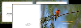 creation graphique en ligne depliant 2 volets  4 pages  paysage nature parc naturel animaux parc naturel des oiseaux MLGI34273