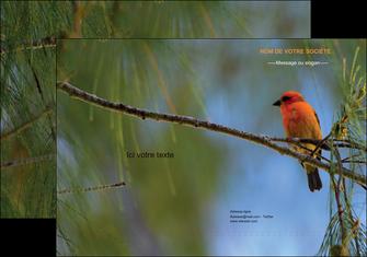 personnaliser modele de pochette a rabat paysage nature parc naturel animaux parc naturel des oiseaux MLGI34277