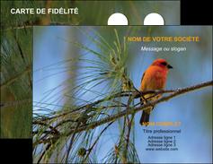 creation graphique en ligne carte de visite paysage nature parc naturel animaux parc naturel des oiseaux MLGI34281