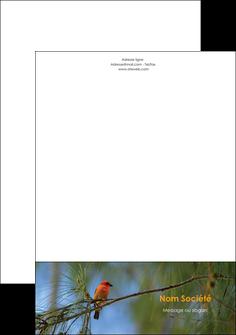 realiser tete de lettre paysage nature parc naturel animaux parc naturel des oiseaux MLGI34283