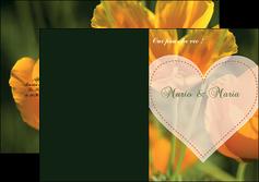 cree depliant 2 volets  4 pages  faire part de mariage invitation de mariage carton invitation de mariage MLGI34325