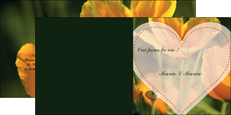 personnaliser modele de depliant 2 volets  4 pages  faire part de mariage invitation de mariage carton invitation de mariage MLGI34327