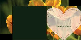 modele en ligne depliant 2 volets  4 pages  faire part de mariage invitation de mariage carton invitation de mariage MLGI34329