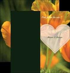 personnaliser modele de depliant 2 volets  4 pages  faire part de mariage invitation de mariage carton invitation de mariage MLGI34333