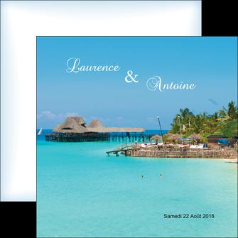 personnaliser maquette flyers paysage faire part de mariage carte de mariage invitation mariage MLGI34341