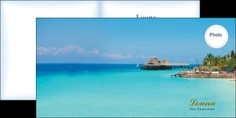 faire depliant 2 volets  4 pages  paysage faire part de naissance carte pour naissance plages MLGI34351