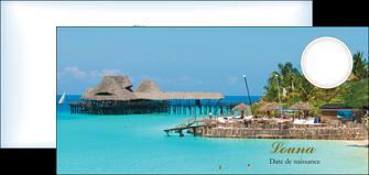 modele flyers paysage faire part de naissance carte pour naissance plages MLGI34355