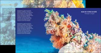 creer modele en ligne depliant 4 volets  8 pages  plongee  plongee plongee sous marine centre de plongee MLGI34365