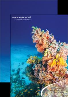 creation graphique en ligne flyers plongee  plongee plongee sous marine centre de plongee MLGI34367