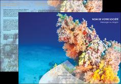 creation graphique en ligne depliant 3 volets  6 pages  plongee  plongee plongee sous marine centre de plongee MLGI34381
