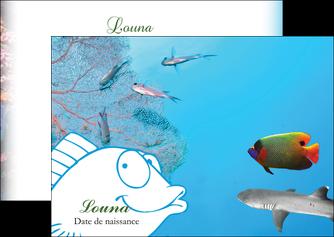 faire flyers chasse et peche plongeur corail poissons MIS34431