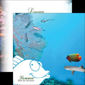 cree flyers chasse et peche plongeur corail poissons MIS34433