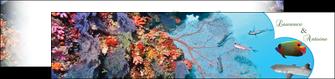 creer modele en ligne depliant 2 volets  4 pages  chasse et peche plongeur corail poissons MIS34437
