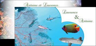 faire flyers chasse et peche plongeur corail poissons MIS34441