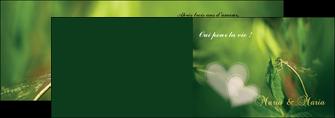 faire modele a imprimer depliant 2 volets  4 pages  faire part de mariage carte de mariage invitation mariage MLGI34457