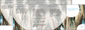 personnaliser maquette depliant 4 volets  8 pages  paysage fleurs champs nature MLGI34613