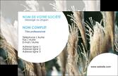 imprimerie carte de visite paysage fleurs champs nature MLIP34617