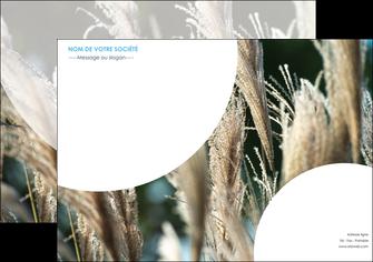 maquette en ligne a personnaliser affiche paysage fleurs champs nature MLGI34619