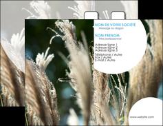 modele carte de visite paysage fleurs champs nature MLGI34623