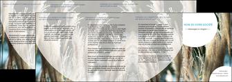imprimer depliant 4 volets  8 pages  paysage fleurs champs nature MLGI34627