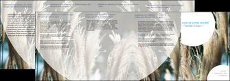 cree depliant 4 volets  8 pages  paysage fleurs champs nature MLGI34629