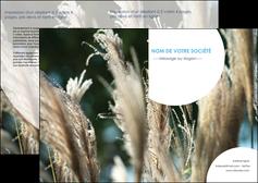 imprimer depliant 2 volets  4 pages  paysage fleurs champs nature MLGI34631