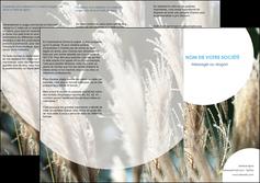 imprimer depliant 3 volets  6 pages  paysage fleurs champs nature MLGI34637