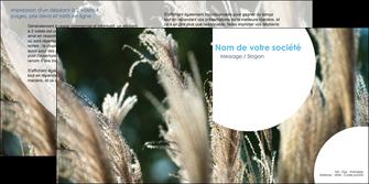 realiser depliant 2 volets  4 pages  paysage fleurs champs nature MLGI34643