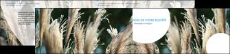imprimerie depliant 2 volets  4 pages  paysage fleurs champs nature MLGI34645