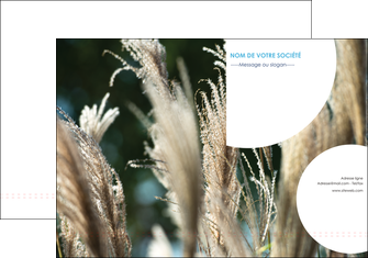 faire modele a imprimer pochette a rabat paysage fleurs champs nature MLGI34647