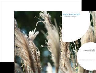 faire modele a imprimer pochette a rabat paysage fleurs champs nature MLGI34649