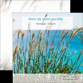 maquette en ligne a personnaliser flyers paysage nature champs fleurs MLGI34663